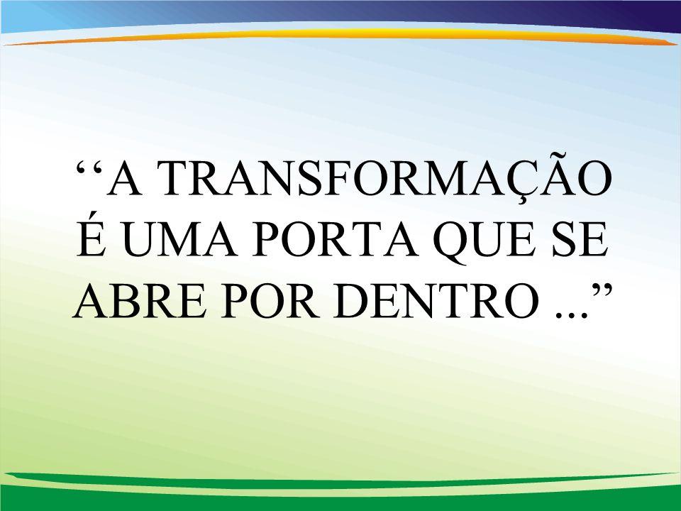 A TRANSFORMAÇÃO É UMA PORTA QUE SE ABRE POR DENTRO...