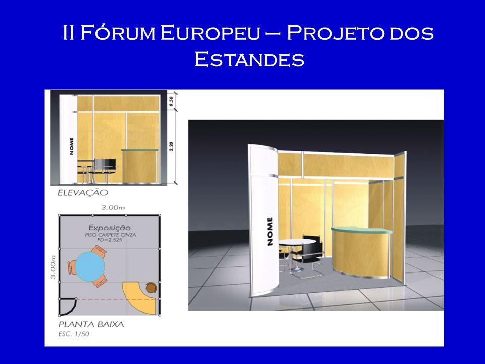 II Fórum Europeu – Planta do evento