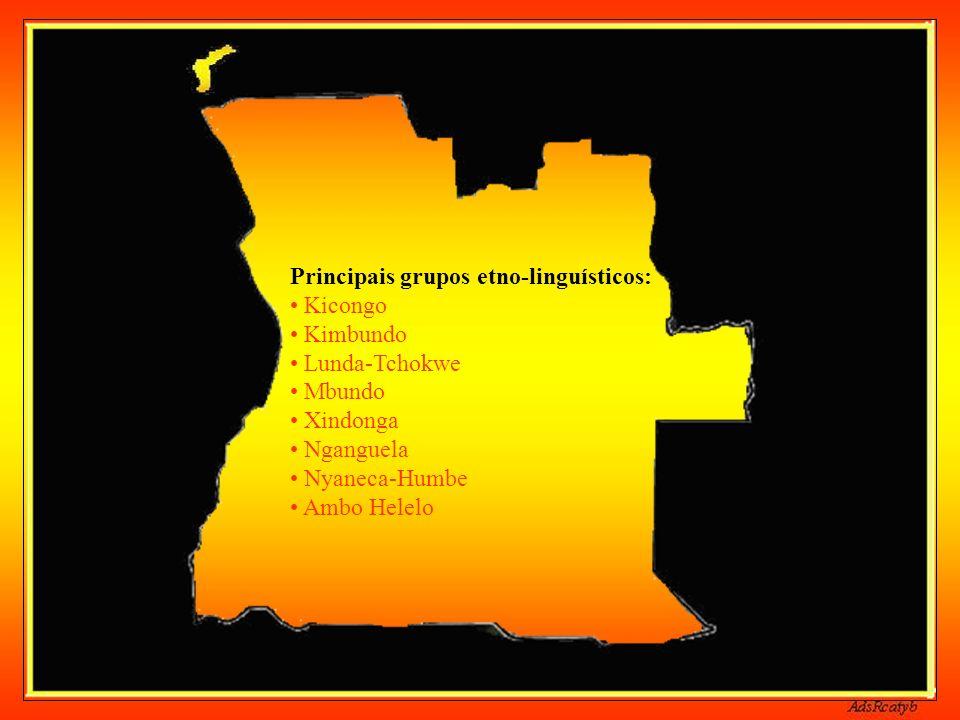 Capital de Angola: Luanda Língua oficial: Português Independência de Portugal: 11/11/1975 Moeda: Kwanza Clima: Tropical no norte, subtropical no sul P