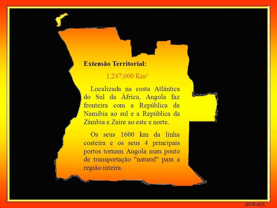 Línguas regionais: Umbundu Kimbundu Kikongo Kichokwe Kwanyama Nganguela Luvale Religião: Católicos (51%) Protestantes (17%) Outras (32%)