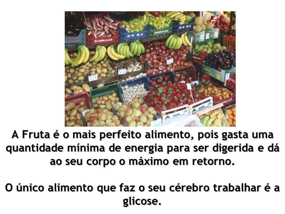 A fruta é principalmente frutose (que pode ser transformada com facilidade em glicose), é na maioria das vezes 90-95 % de água.