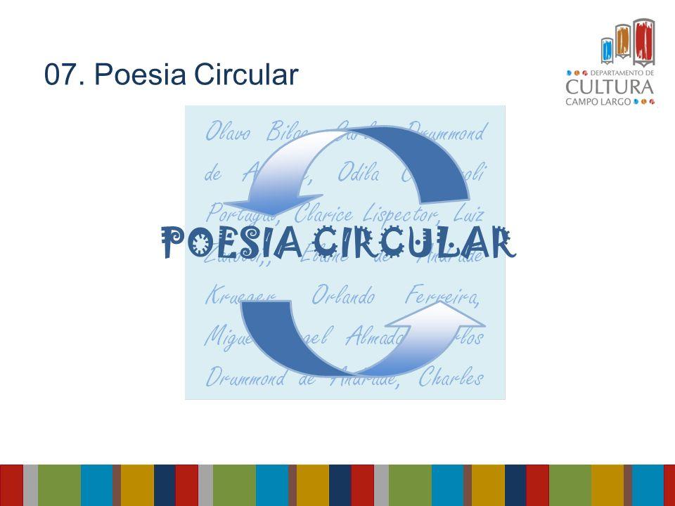 07. Poesia Circular POESIA CIRCULAR