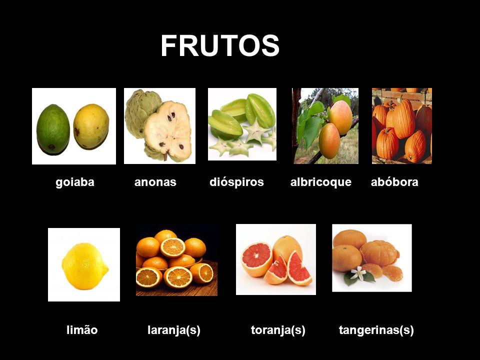 FRUTOS uvas amoras abacate maracujá ameixa framboesas nespras manga