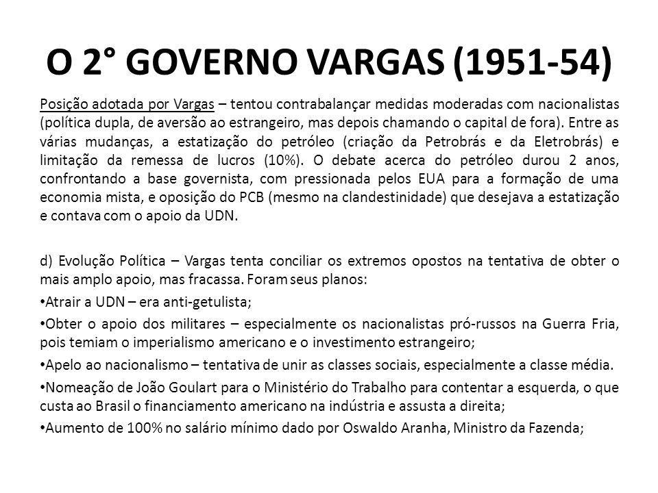 Posição adotada por Vargas – tentou contrabalançar medidas moderadas com nacionalistas (política dupla, de aversão ao estrangeiro, mas depois chamando