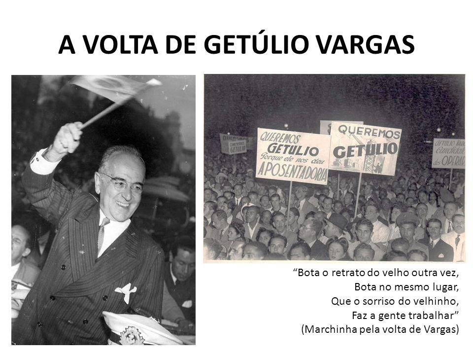 O GOVERNO DE JK (1956-1960) (...) Juscelino Kubitschek é o homem vem de Minas das bateias do sertão Juscelino, Juscelino é o homem Que além de patriota é nosso irmão.