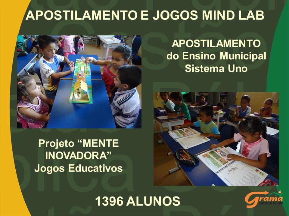 APOSTILAMENTO E JOGOS MIND LAB APOSTILAMENTO do Ensino Municipal Sistema Uno Projeto MENTE INOVADORA Jogos Educativos 1396 ALUNOS