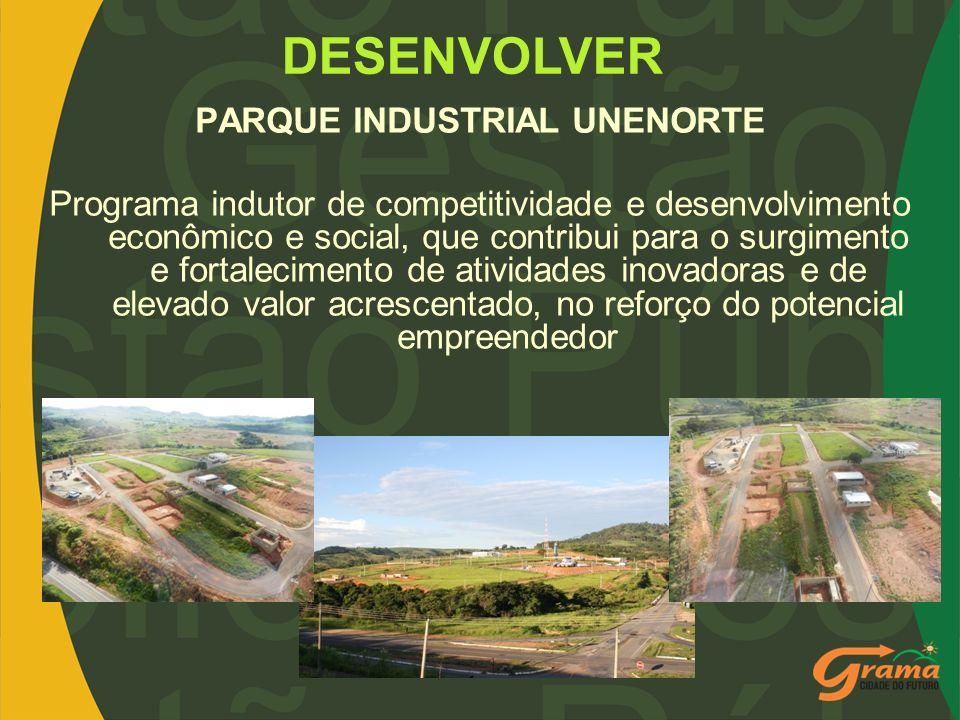 PARQUE INDUSTRIAL UNENORTE Programa indutor de competitividade e desenvolvimento econômico e social, que contribui para o surgimento e fortalecimento