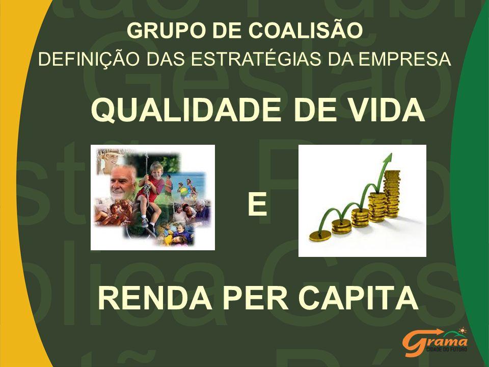 GRUPO DE COALISÃO QUALIDADE DE VIDA E RENDA PER CAPITA DEFINIÇÃO DAS ESTRATÉGIAS DA EMPRESA