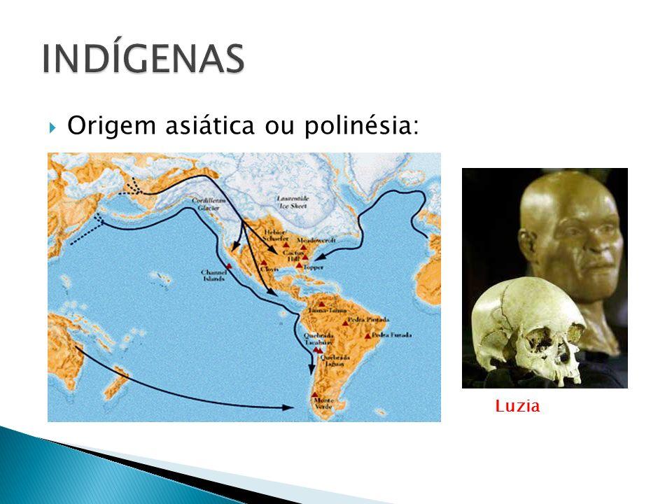 Origem asiática ou polinésia: Luzia