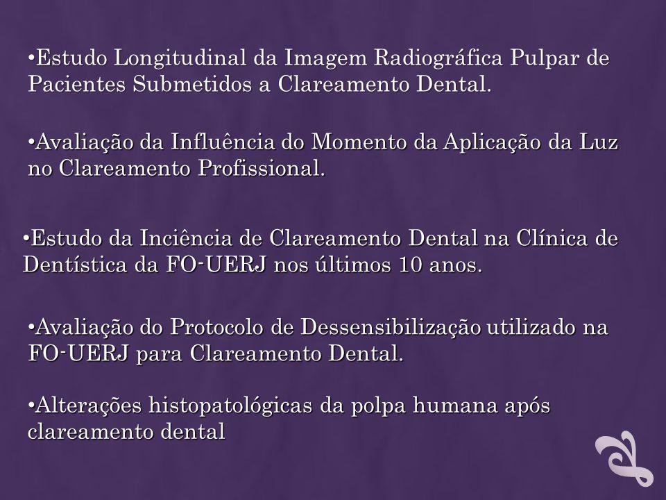 Estudo Longitudinal da Imagem Radiográfica Pulpar de Pacientes Submetidos a Clareamento Dental. Estudo Longitudinal da Imagem Radiográfica Pulpar de P