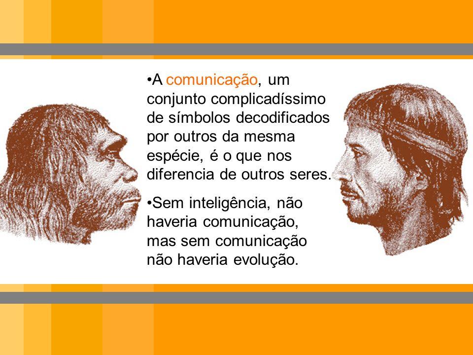 A comunicação, um conjunto complicadíssimo de símbolos decodificados por outros da mesma espécie, é o que nos diferencia de outros seres. Sem inteligê