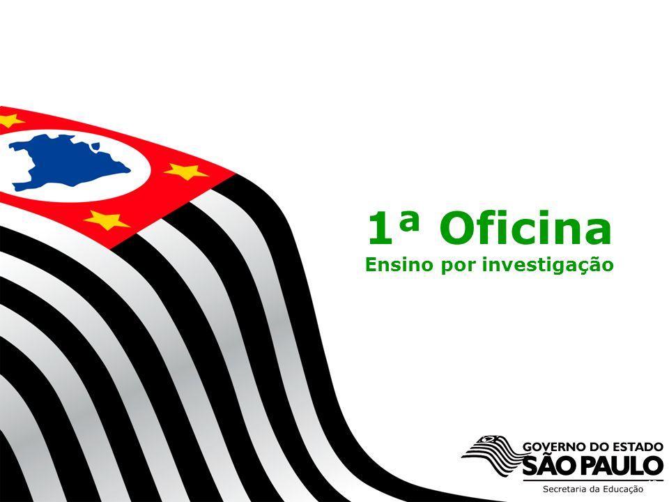 Secretaria da Educação do Estado de São Paulo CGEB/EFAP 1ª Oficina Ensino por investigação 19