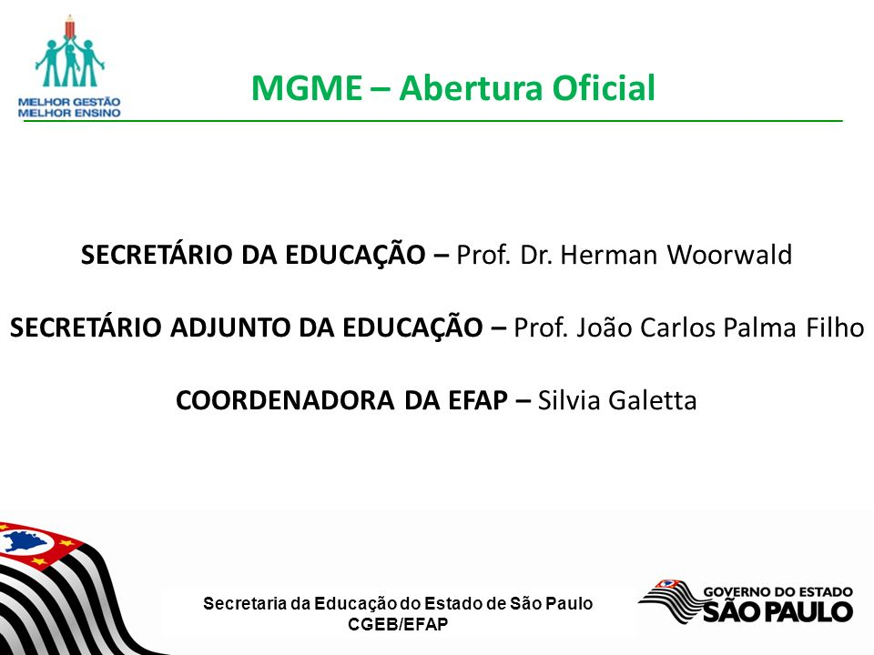 Secretaria da Educação do Estado de São Paulo CGEB/EFAP Recuperação
