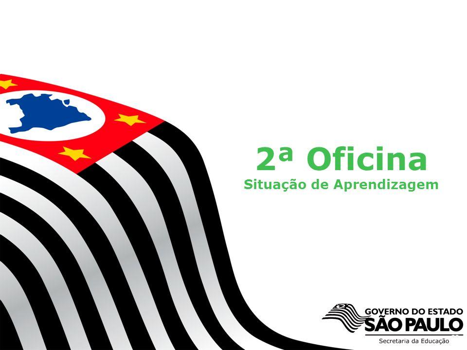 Secretaria da Educação do Estado de São Paulo CGEB/EFAP 2ª Oficina Situação de Aprendizagem 33