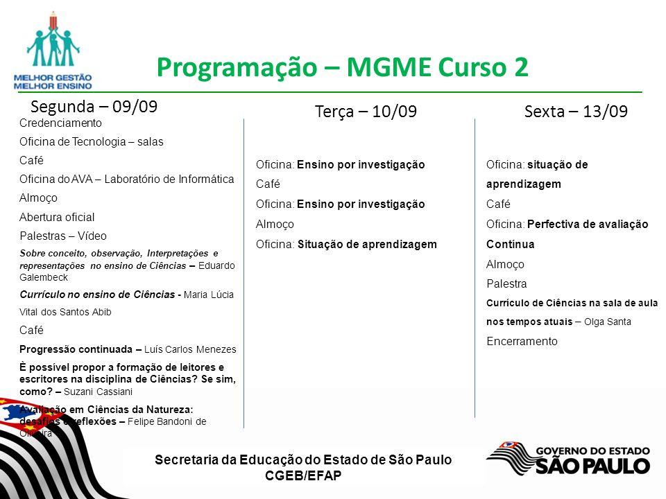 Secretaria da Educação do Estado de São Paulo CGEB/EFAP Quais são as etapas de uma situação de aprendizagem.