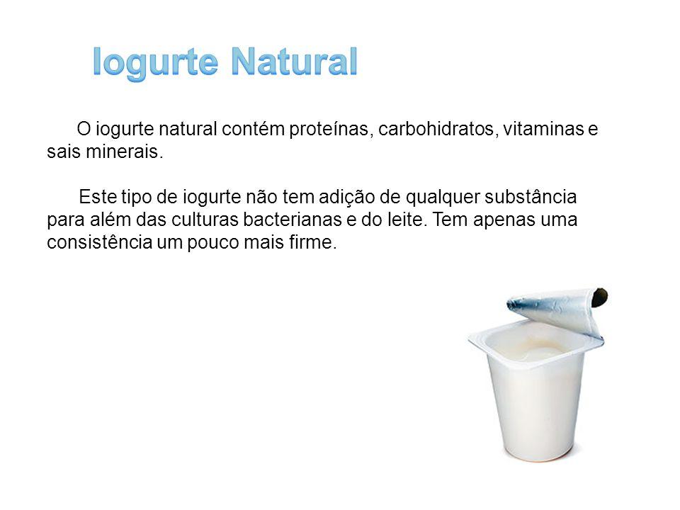 É considerado o iogurte natural ao qual foi adicionado açúcares e/ou edulcorantes para melhorar o sabor.