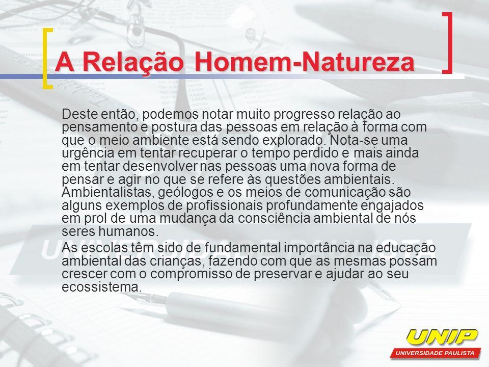 A Relação Homem-Natureza A Agenda 21 A Agenda 21 é um dos mais importantes documentos referente ao meio ambiente e foi gerado na reunião de 178 nações na Conferência das Nações Unidas sobre o Meio Ambiente e o Desenvolvimento (CNUMAD), em 1992.