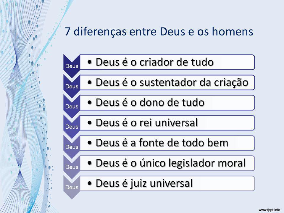 7 diferenças entre Deus e os homens