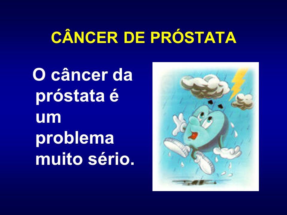 CÂNCER DE PRÓSTATA O câncer da próstata é um problema muito sério.