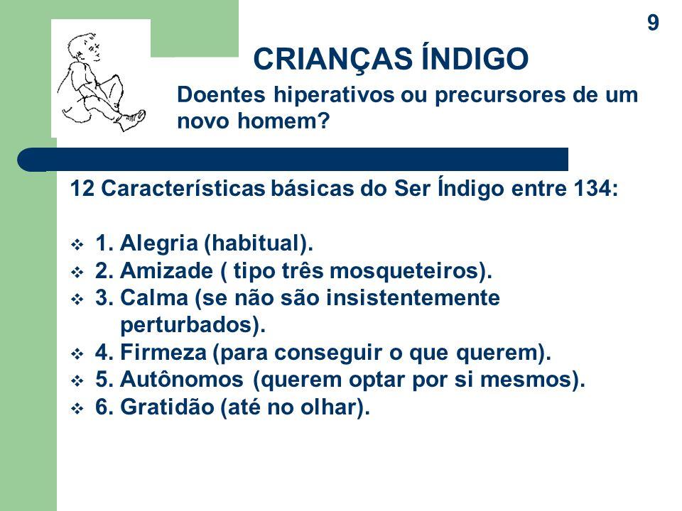 12 Características básicas do Ser Índigo entre 134: 1.