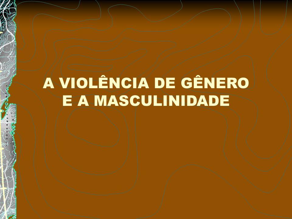 A VIOLÊNCIA DE GÊNERO E A MASCULINIDADE
