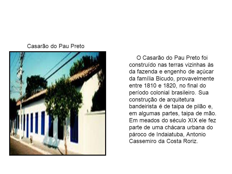 O Casarão do Pau Preto foi construído nas terras vizinhas às da fazenda e engenho de açúcar da família Bicudo, provavelmente entre 1810 e 1820, no final do período colonial brasileiro.