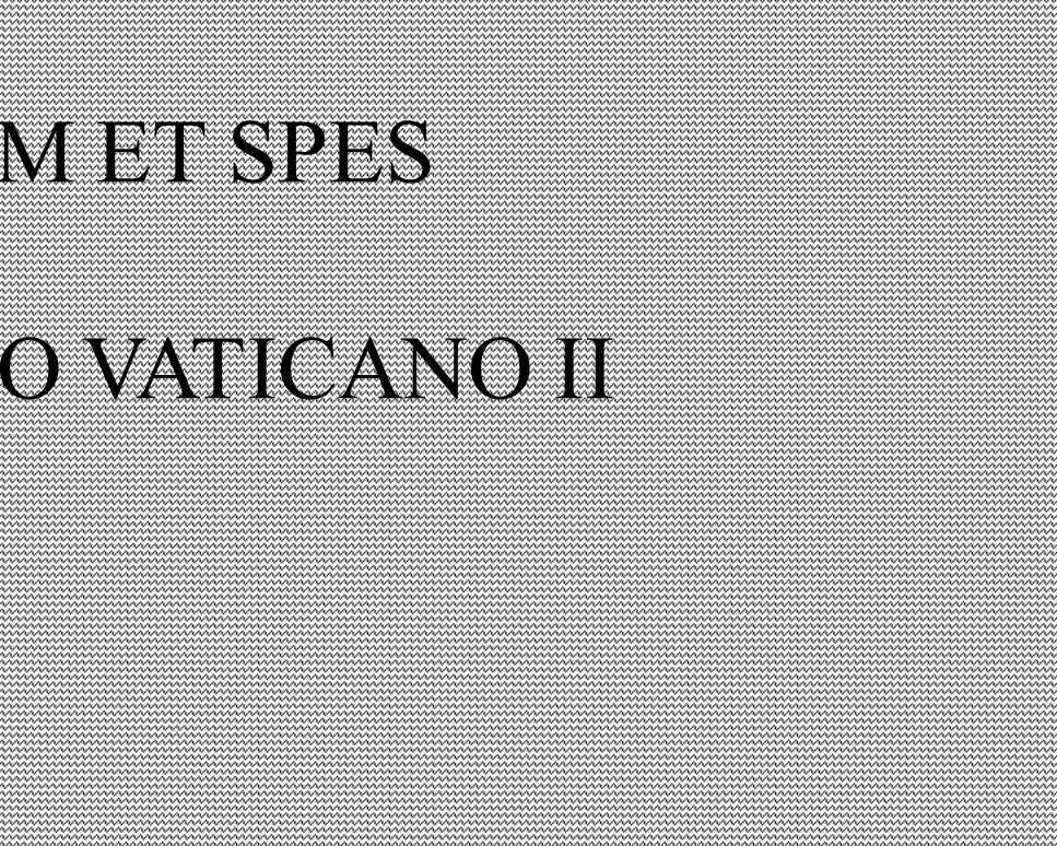 GAUDIUM ET SPES DO CONCÍLIO VATICANO II