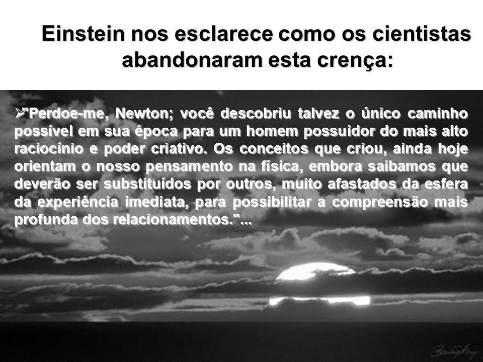 Einstein nos esclarece como os cientistas abandonaram esta crença: Einstein nos esclarece como os cientistas abandonaram esta crença: