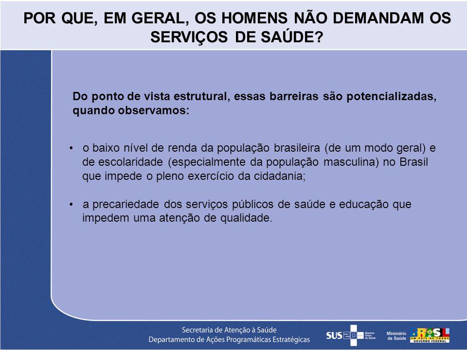 Do ponto de vista estrutural, essas barreiras são potencializadas, quando observamos: o baixo nível de renda da população brasileira (de um modo geral