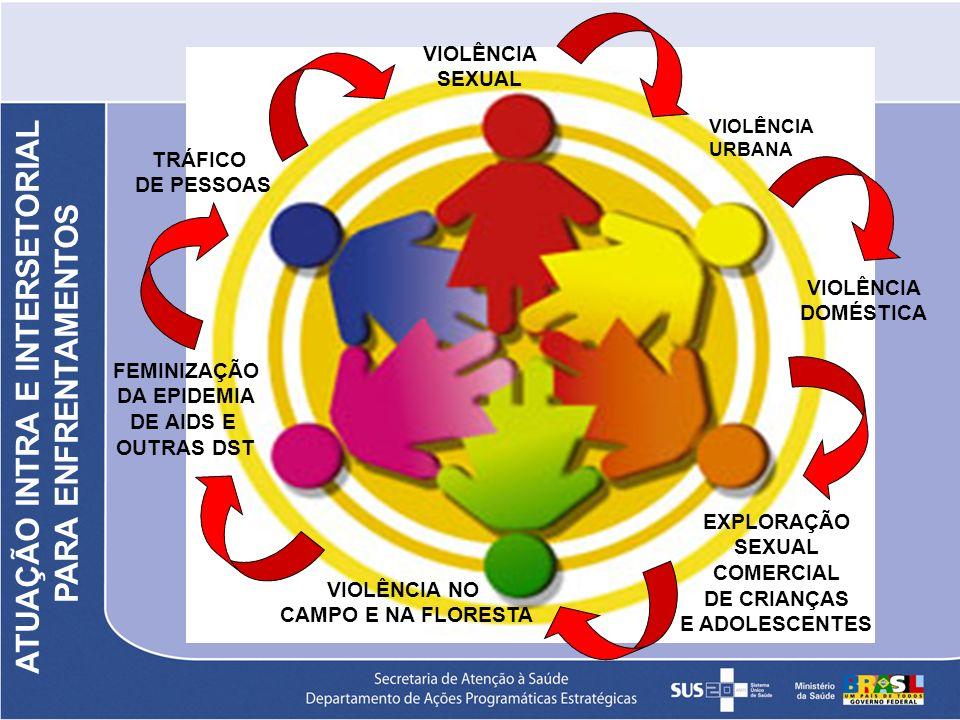 VIOLÊNCIA DOMÉSTICA VIOLÊNCIA SEXUAL VIOLÊNCIA NO CAMPO E NA FLORESTA EXPLORAÇÃO SEXUAL COMERCIAL DE CRIANÇAS E ADOLESCENTES FEMINIZAÇÃO DA EPIDEMIA D