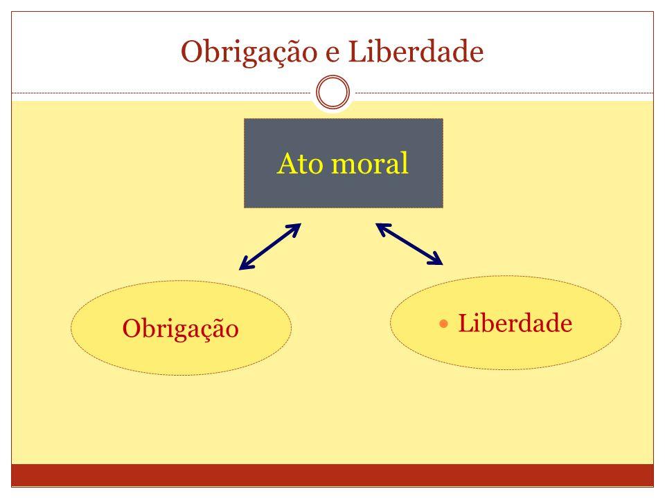 Obrigação e Liberdade Ato moral Obrigação Liberdade