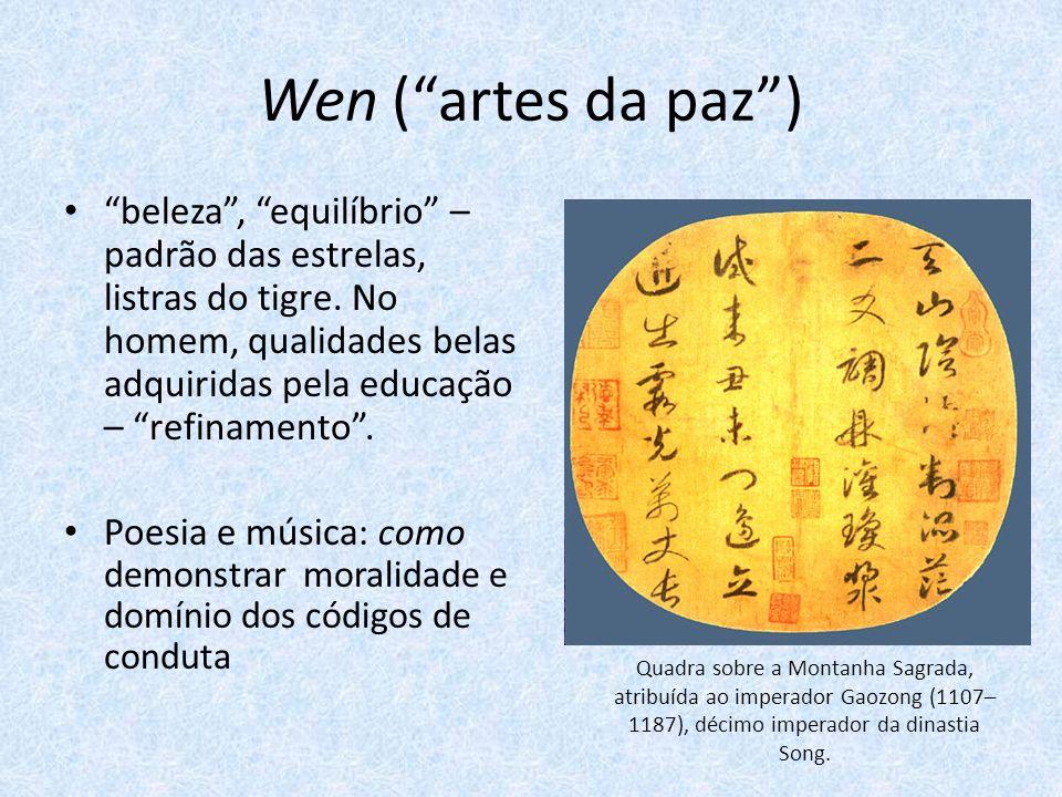 Wen (artes da paz) beleza, equilíbrio – padrão das estrelas, listras do tigre.