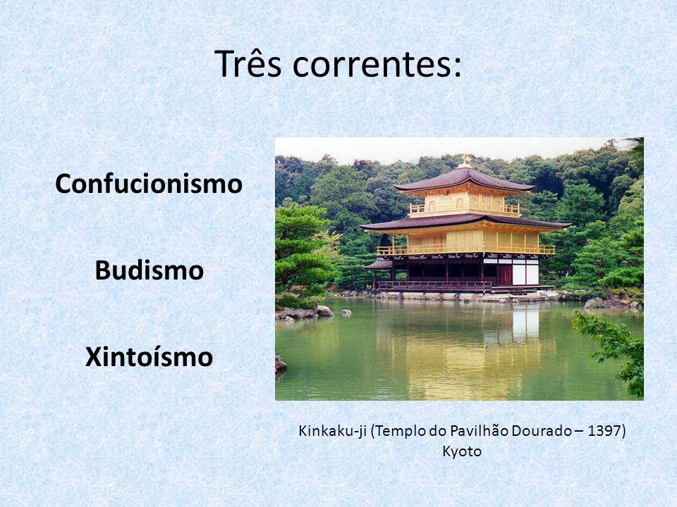 XINTOÍSMO (SHINTO) Santuário da deusa Amaterasu, em Ise, reconstruído a cada 20 anos (primeira construção pelo Imperador Temmu, séc VII d.
