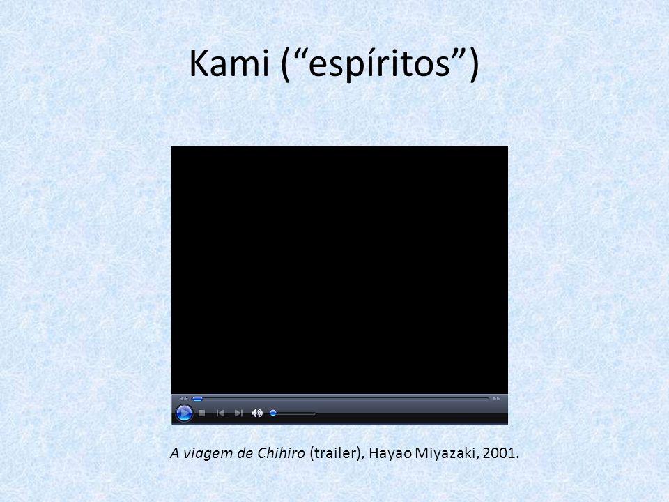 Kami (espíritos) A viagem de Chihiro (trailer), Hayao Miyazaki, 2001.
