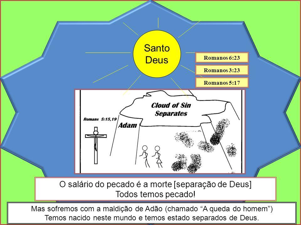 Santo Deus Mas sofremos com a maldição de Adão (chamado A queda do homem) Temos nacido neste mundo e temos estado separados de Deus.