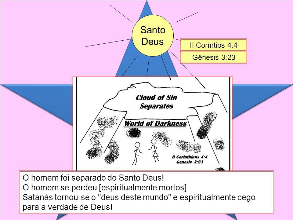 Santo Deus O homem foi separado do Santo Deus.O homem se perdeu [espiritualmente mortos].