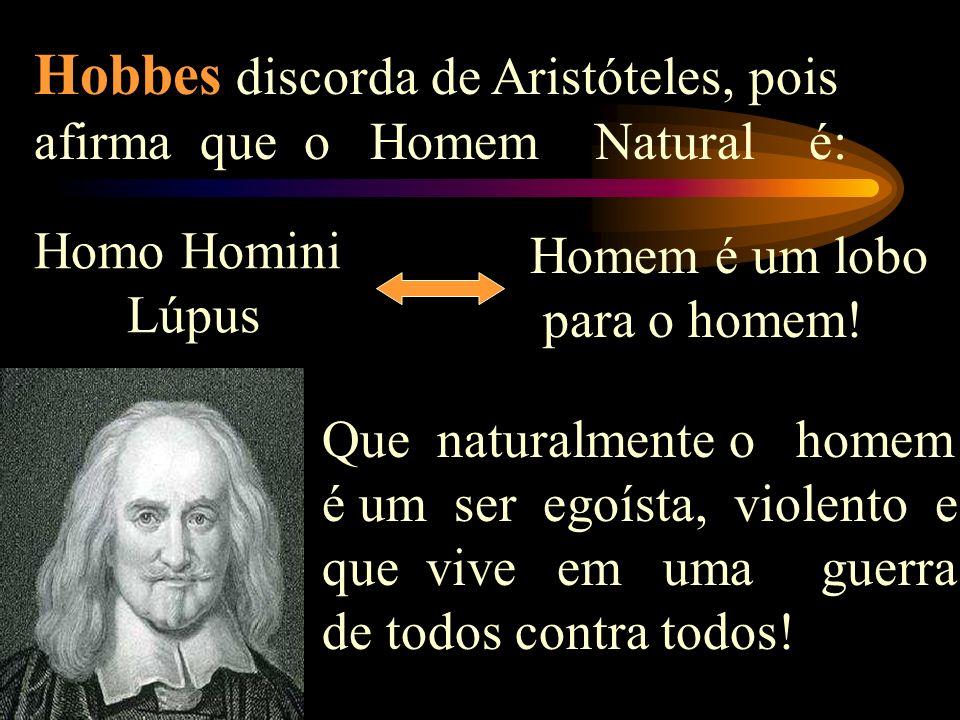 Breve Análise da obra O Leviathã Aristóteles afirmava que o Homem Natural é: Zoo Politikon Animal Político Que naturalmente o homem é um ser social, p