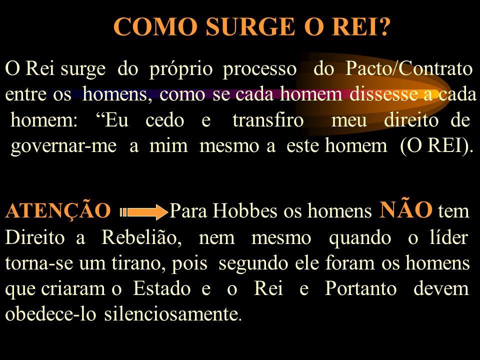 HOMEM ARTIFICIAL ESTADO - LEVIATHÃ - REI LEIS E REGRAS SOCIEDADE CIVIL PACTO SOCIAL