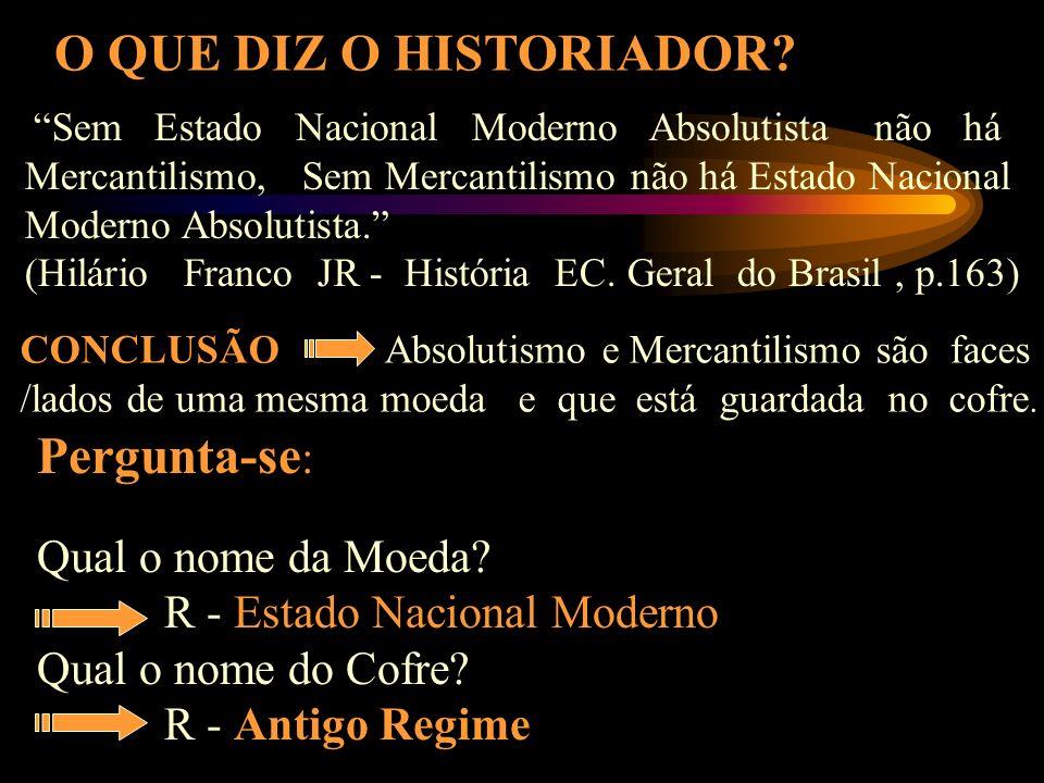 PRIMEIRAS CONSIDERAÇÕES: Principais Características do Antigo Regime: Consolidação dos Países; Poder Político Centralizado/Unificado; Economia Mercant