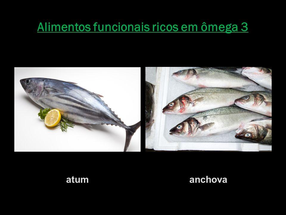 Alimentos funcionais ricos em ômega 3 atumanchova