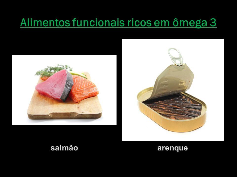 Alimentos funcionais ricos em ômega 3 salmãoarenque
