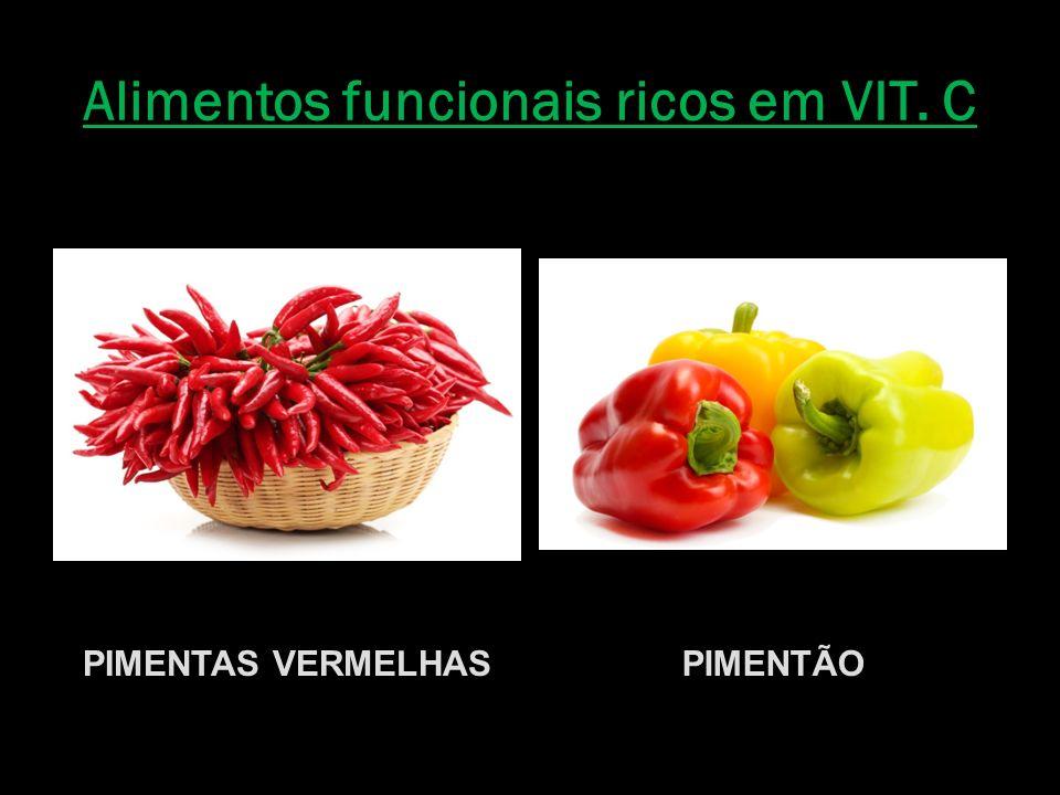 Alimentos funcionais ricos em VIT. C PIMENTAS VERMELHASPIMENTÃO