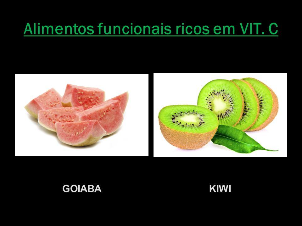 Alimentos funcionais ricos em VIT. C GOIABAKIWI