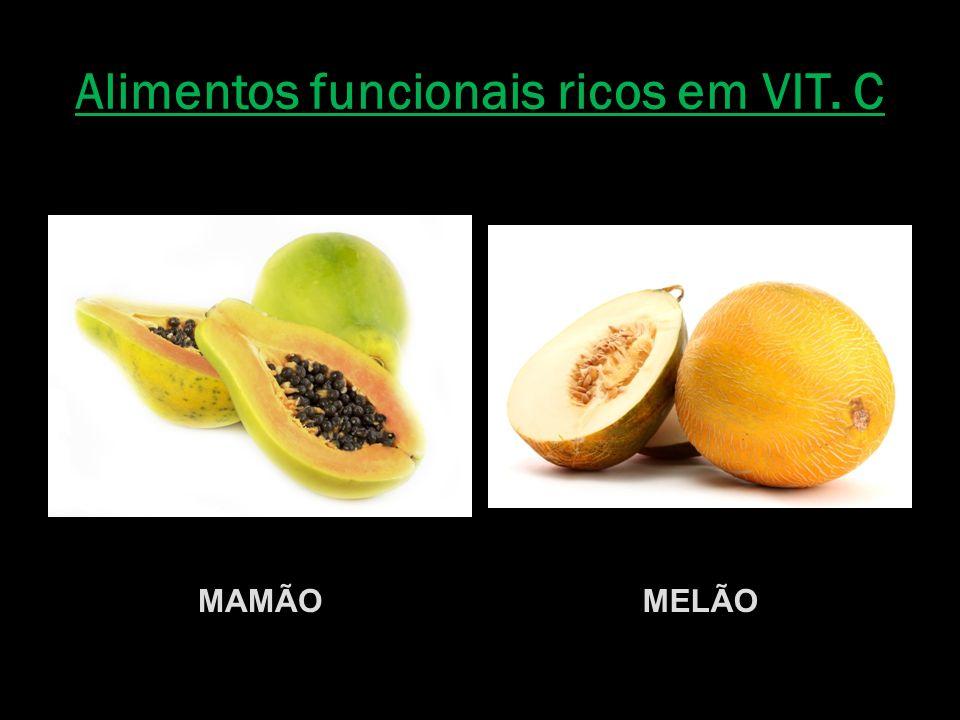 Alimentos funcionais ricos em VIT. C MAMÃOMELÃO
