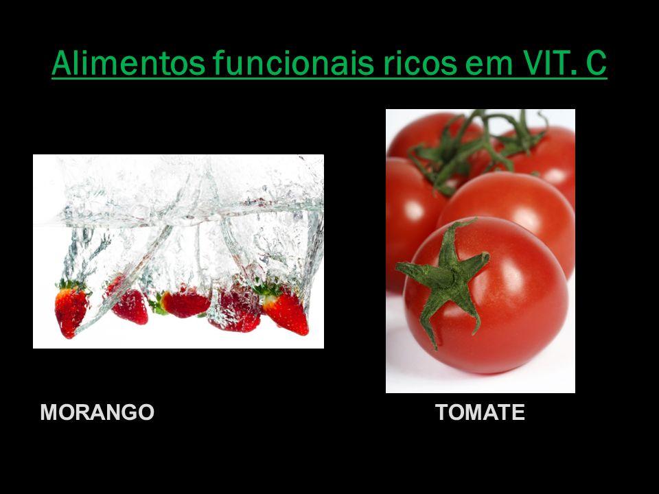 Alimentos funcionais ricos em VIT. C MORANGOTOMATE