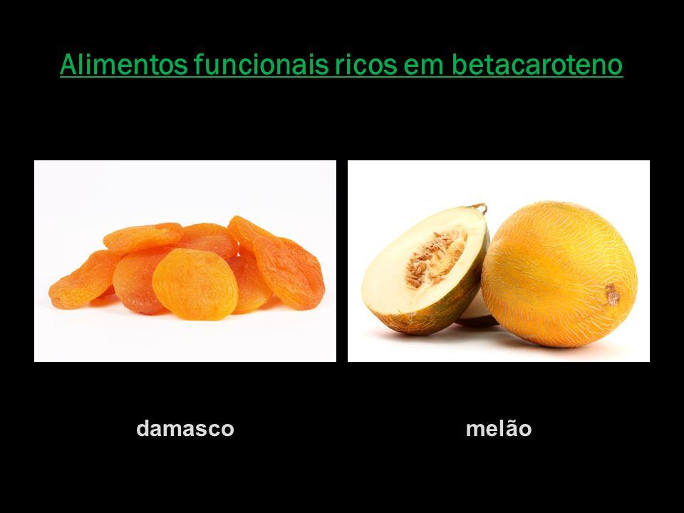 Alimentos funcionais ricos em betacaroteno damascomelão