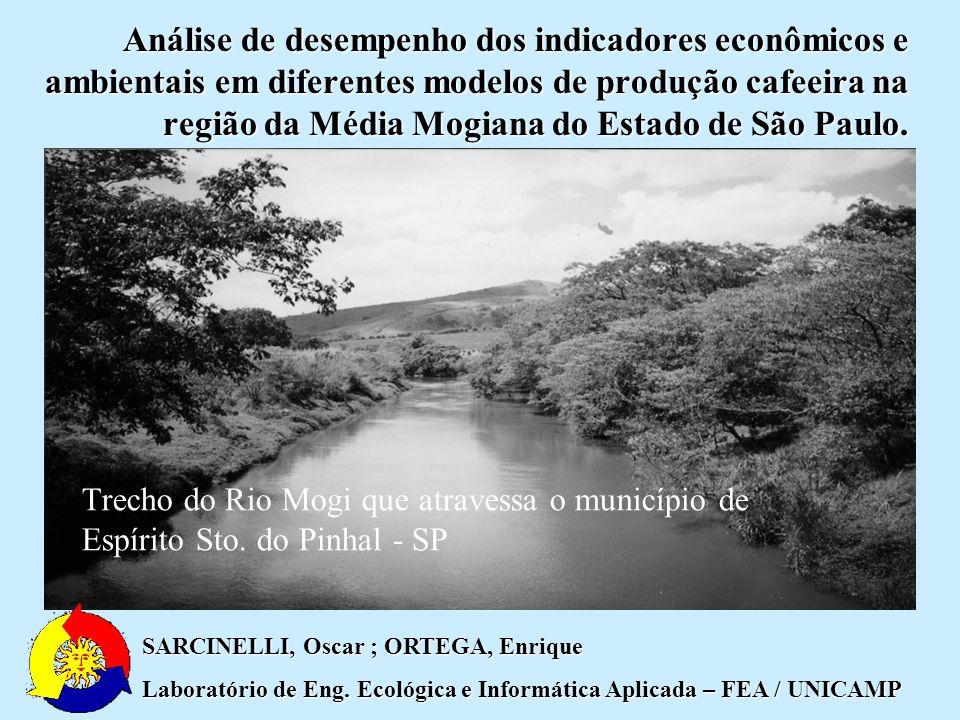 Análise de desempenho dos indicadores econômicos e ambientais em diferentes modelos de produção cafeeira na região da Média Mogiana do Estado de São Paulo.