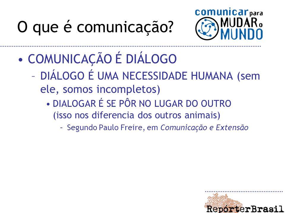 O que é comunicação? Comunicar é pôr-se no lugar do outro