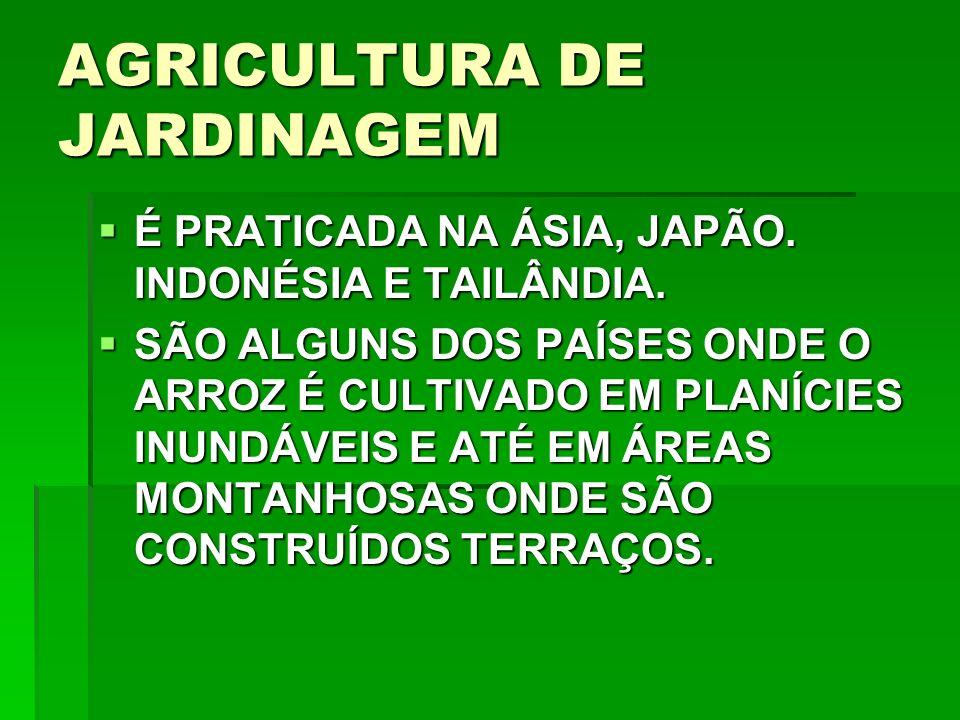 AGRICULTURA DE JARDINAGEM É PRATICADA NA ÁSIA, JAPÃO.