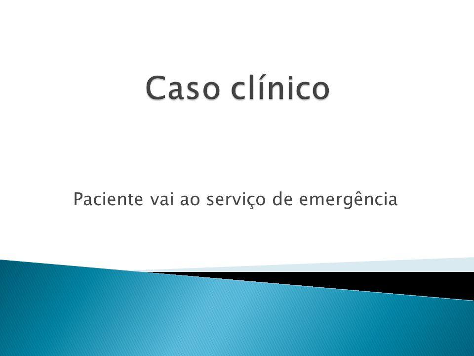 Paciente vai ao serviço de emergência